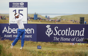 ABERDEEN, SCOTLAND - JULY 13: Scott Jamieson of Scotland in action during the final round of the Aberdeen Asset Management Scottish Open at Royal Aberdeen on July 13, 2014 in Aberdeen, Scotland. (Photo by Andrew Redington/Getty Images)